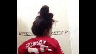 Horny Amateur Mexican Schoolgirl Ass Shaking On Webcam Show